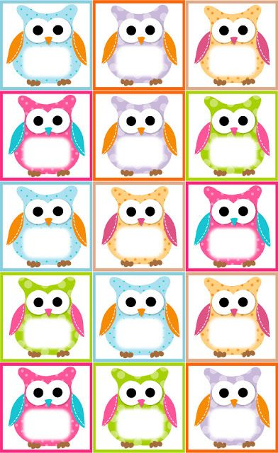 Owl Lapbook Birthday Card Free Owl Label Templates Pinterest