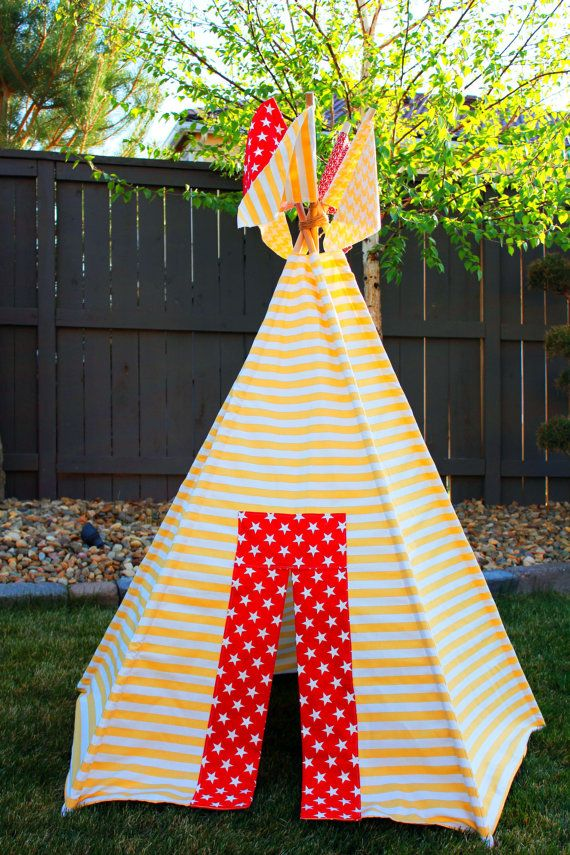 Children\'s Teepee Pattern | Teepee pattern, Childrens teepee and ...