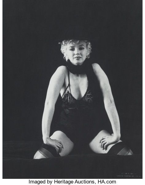 Milton Greene (American, 1922-1985). Marilyn Monroe from the Black | Lot #38034 | Heritage Auctions