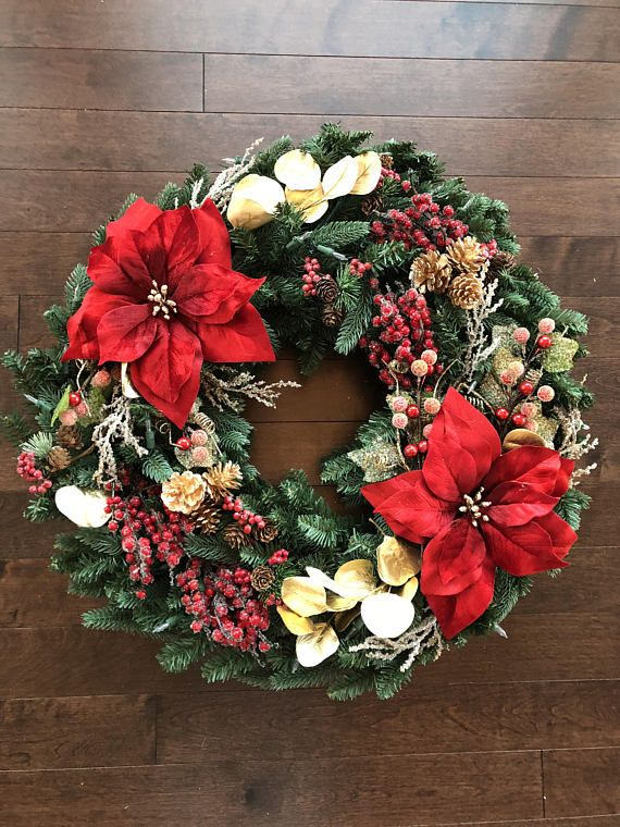 elegant christmas wreath christmas wreaths for front door - Elegant Christmas Wreaths