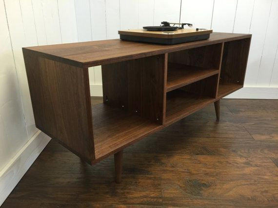 Solid Mahogany Turntable Cabinet With Al Storage Mid