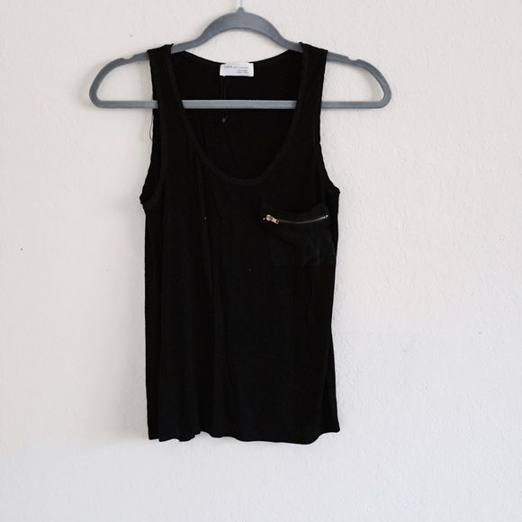 Zara Collection Tank Beautiful, soft and comfortable, sleek top from Zara Collection. Made in Turkey, size small. Animal and smoke free home  Zara Tops