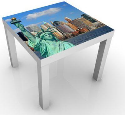 Design Tisch New York Skyline 55x55x45cm Jetzt bestellen unter - ikea küche tisch