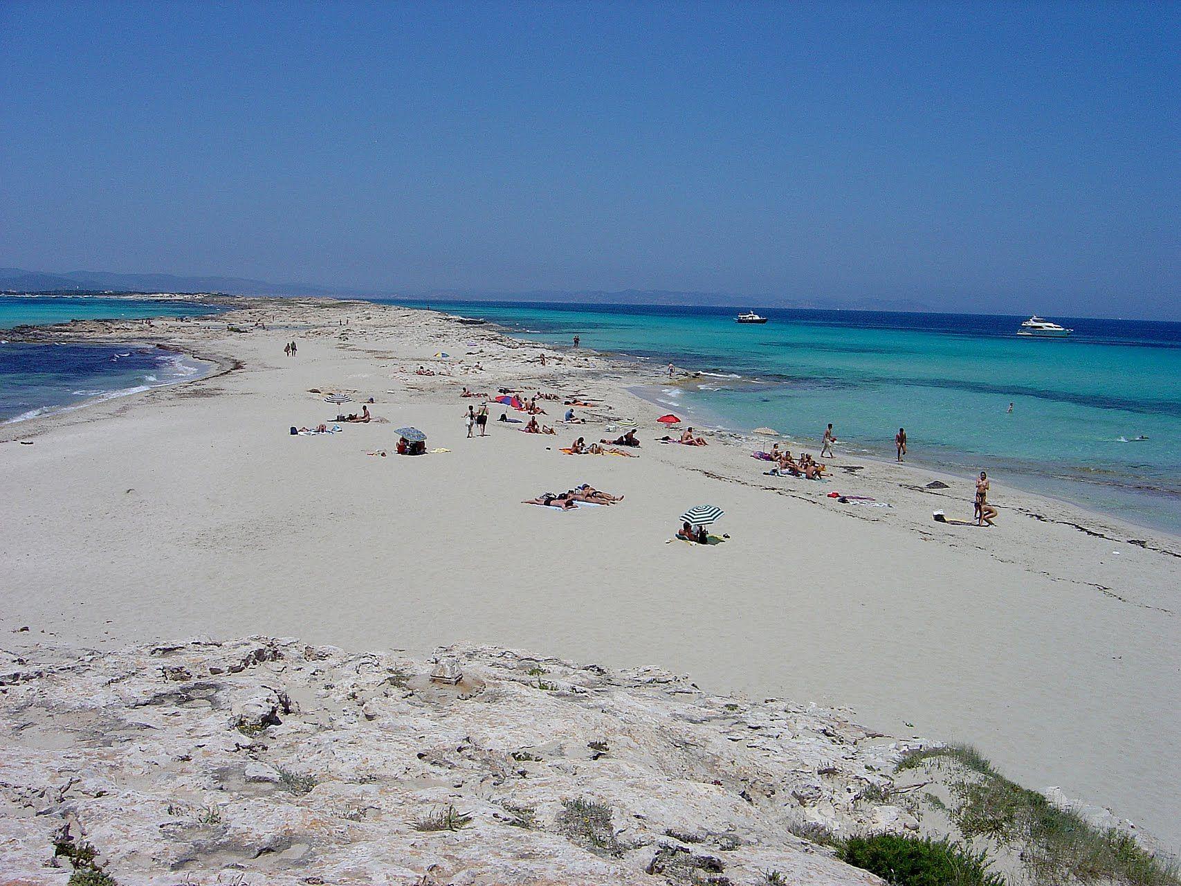 playa de ses illetes formentera mallorca spain