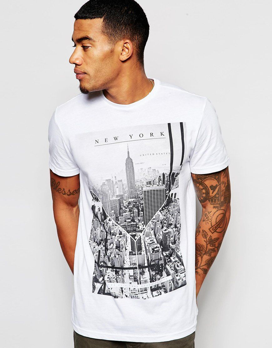 ff76807b Image 1 of New Look T Shirt with City Print | Food T- Shirts in 2019 ...