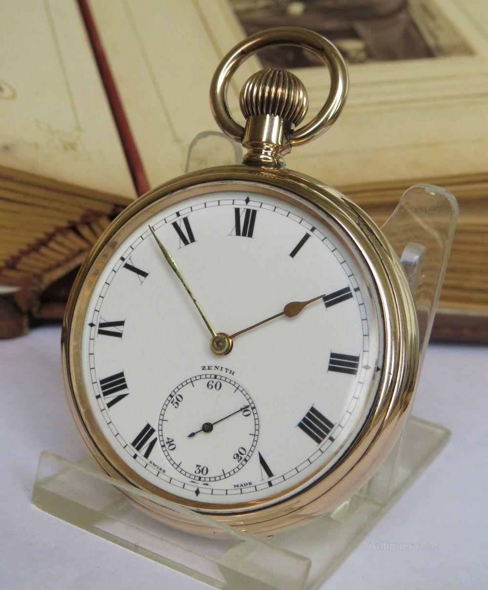 e465531bd Antiques Atlas - Antique Zenith Pocket Watch, 1918   pocket watches ...