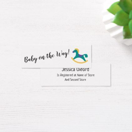 Baby gift registry w rocking horse handout cards negle Gallery