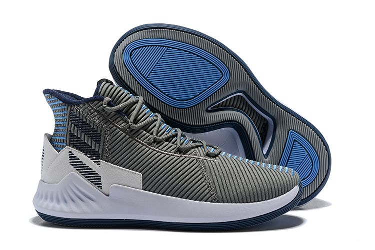 fbeabeaf3a98 2018 New Men s adidas D Rose 9 Grey Sneakers For Sale – New Yeezy 2018