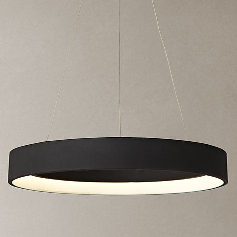 buy popular f445a 7ab4e John Lewis & Partners Jorgen LED Hoop Ceiling Pendant, White ...