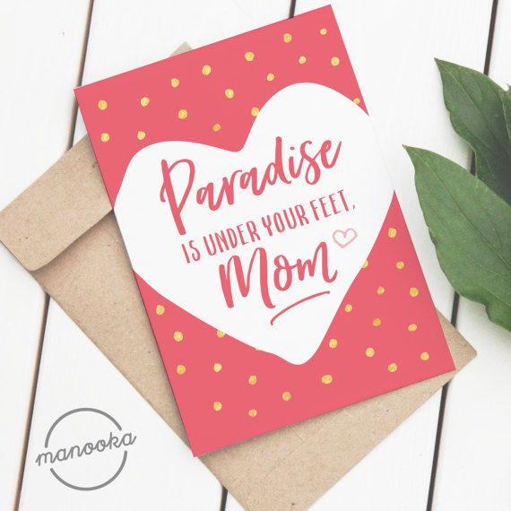 Mother S Day Card Ic Printable Cute A2 Sized On Letter A4 Instant Digital