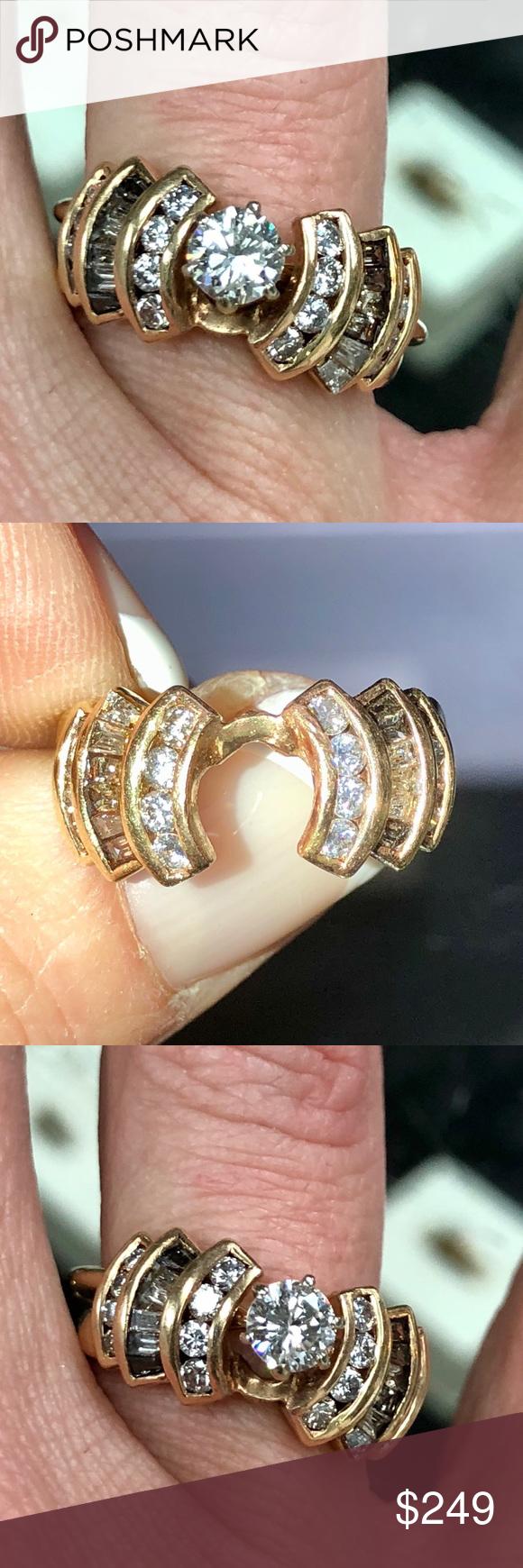 14k gold Diamond engagement ring enhancer wrap 14k