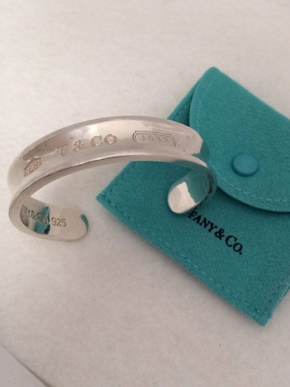 98ca0f95f Authentic Tiffany & co Heavy Cuff Bracelet 925 Sterling Silver - 925 - 1837  Engraved on Front
