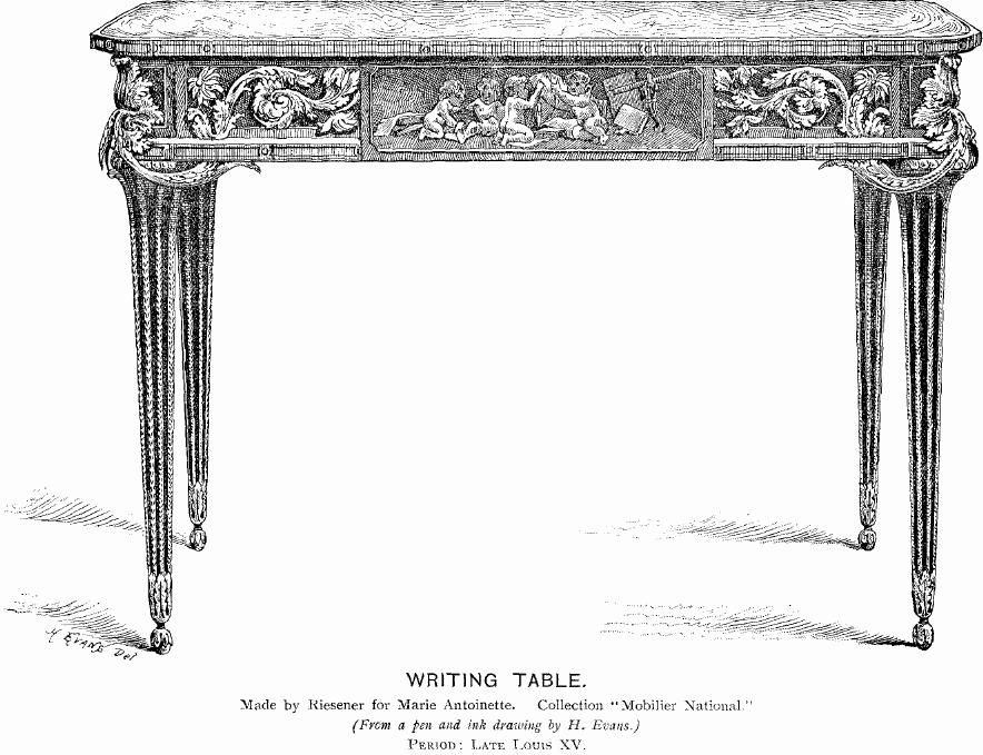 Writing Table (by Riesener for Marie Antoinette)