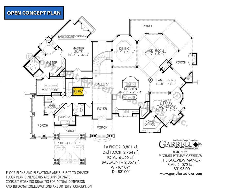 Lakeview Manor House Plan 07214 Garrell Associates Inc Luxury House Plans House Plans Architectural Design House Plans