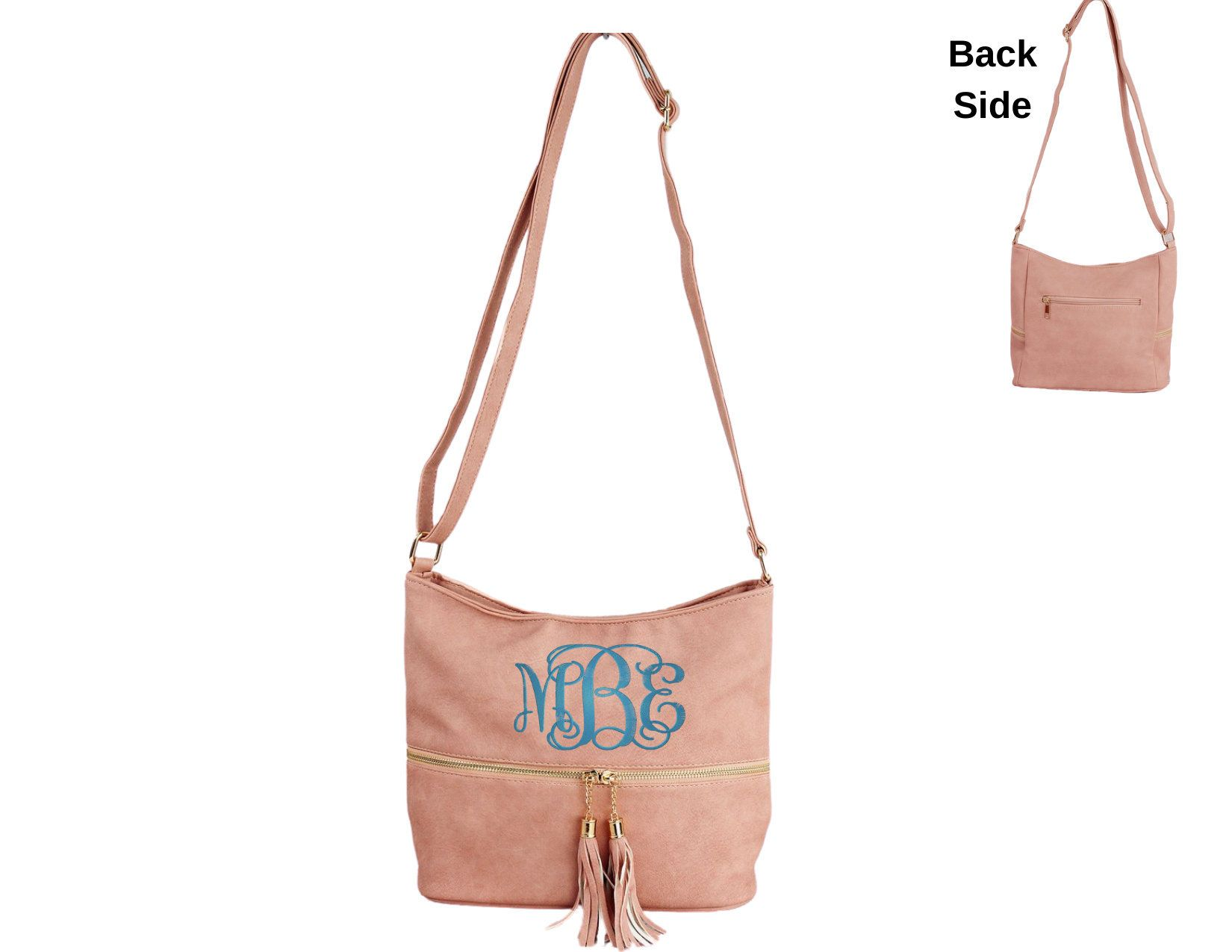 Gift For Tween Gift For Daughter Gift Ideas For Girls Monogrammed Crossbody Purse Leather Purse Gift For Teen