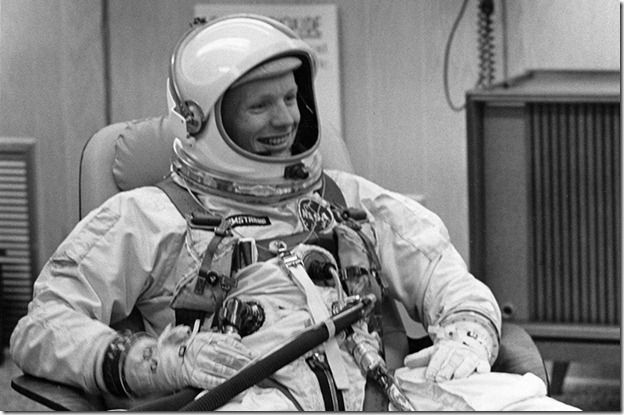 Neil Armstrong in Gemini suit