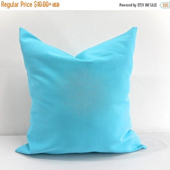 SALE Solid Mandarin Blue Pillow case. Blue by TwistedBobbinDesigns