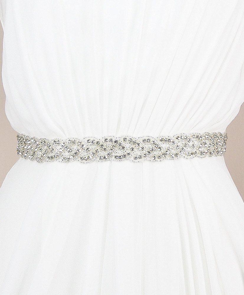 Austine sash kirsten kuehn handmade crystal bridal