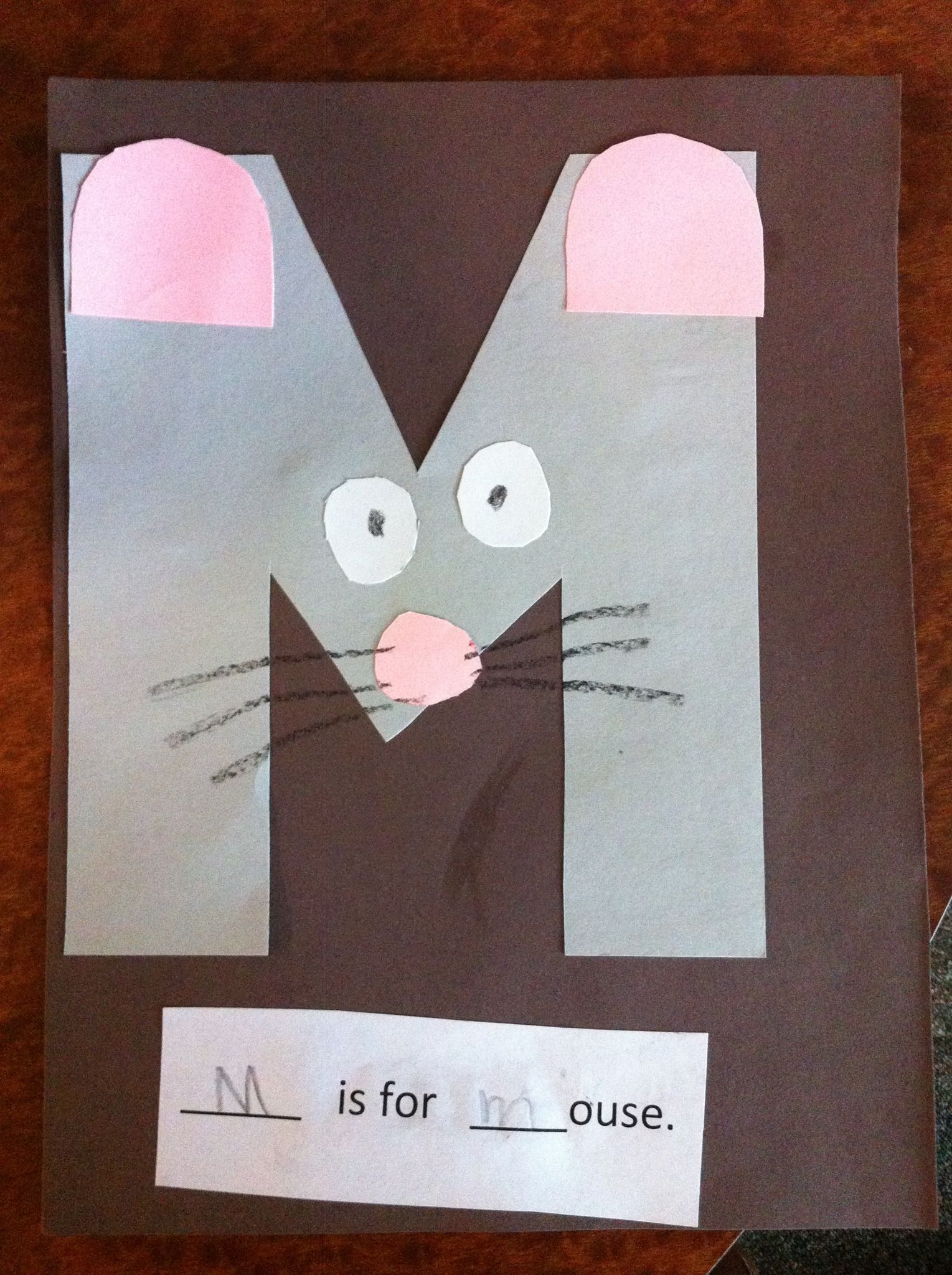 M Is For Mouse Pre K Letter M Craft