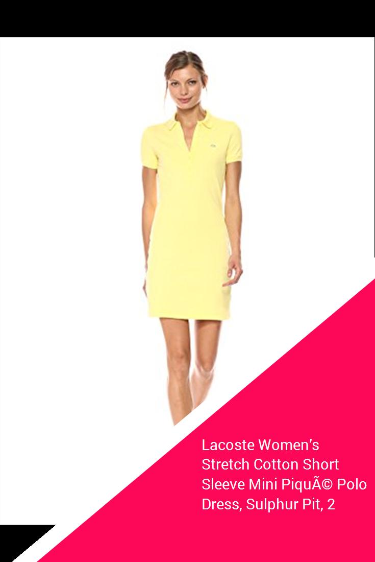 478bc18d8 Lacoste Women s Stretch Cotton Short Sleeve Mini Piqué Polo Dress ...
