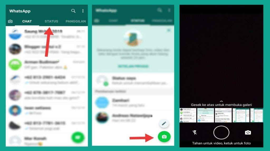 Cara Buat Status Whatsapp Baru Di 2020 Youtube