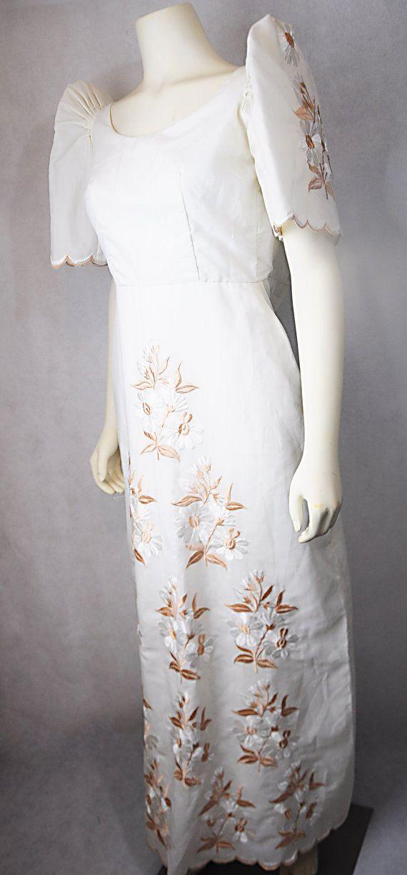 Filipiniana Filipino Vintage Dress Gown Terno by LaFilipiniana ...