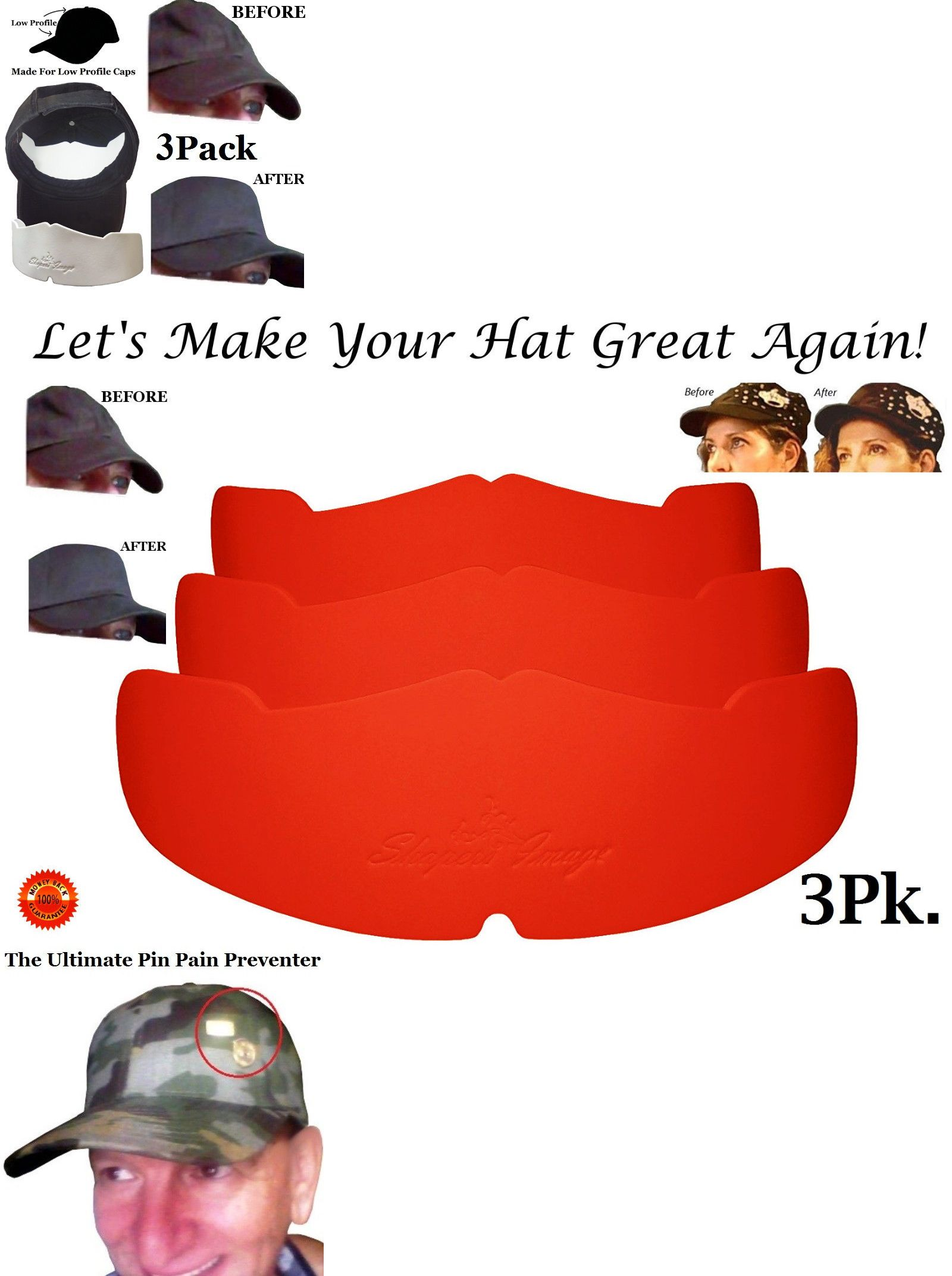 088c04e7fb5 Clothing Shoes and Accessories 158963  Manta Ray Baseball Caps Crown Inserts  For Low Profile Cap