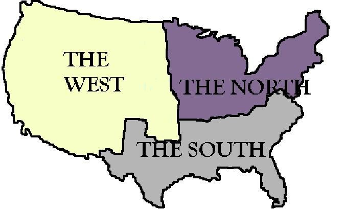 States Sectionalism Sectional Issues And Economic Biases - Map of the us before westward expansion