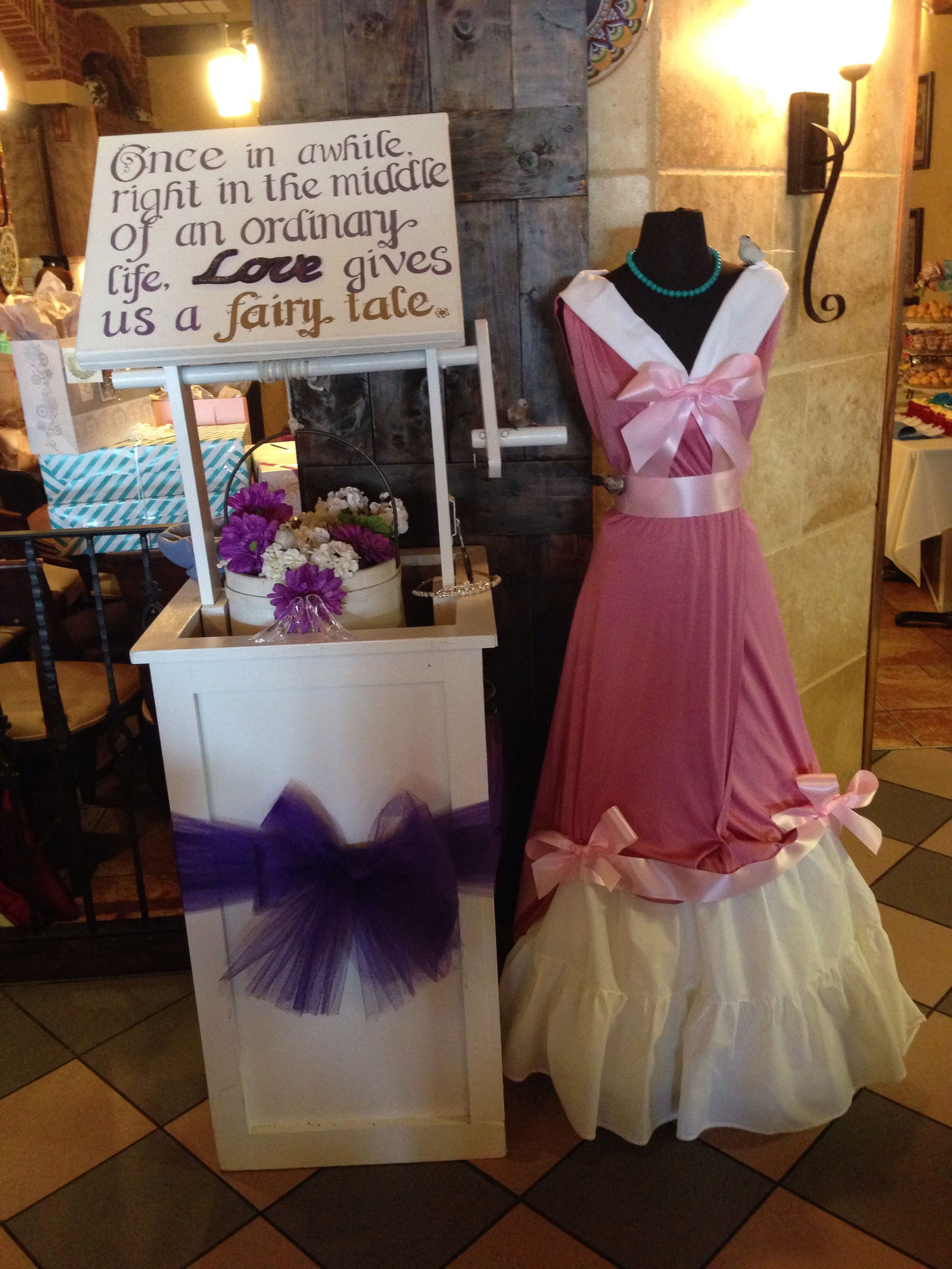 360d2f2f8be Cinderella themed bridal shower. Wishing Well.