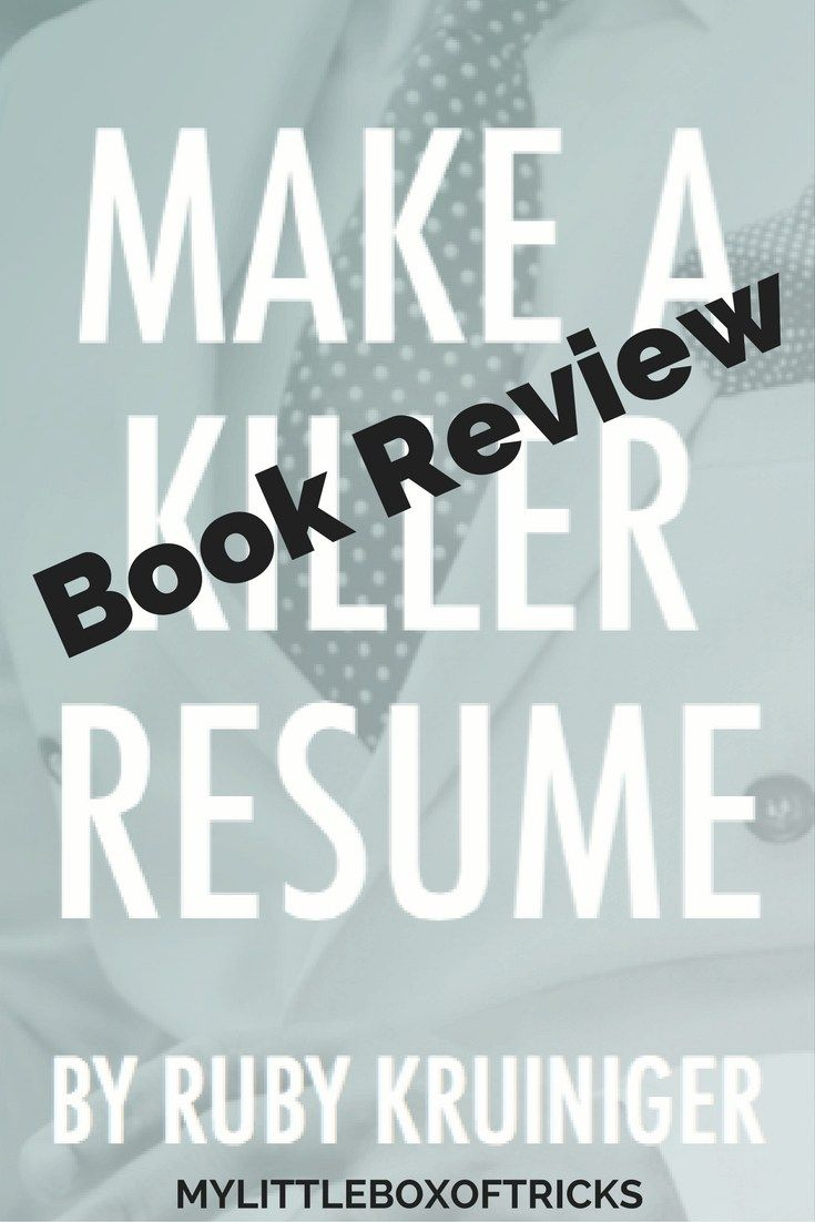 Book Review: How to Make a Killer Resume E-book • | Girls Who Read ...
