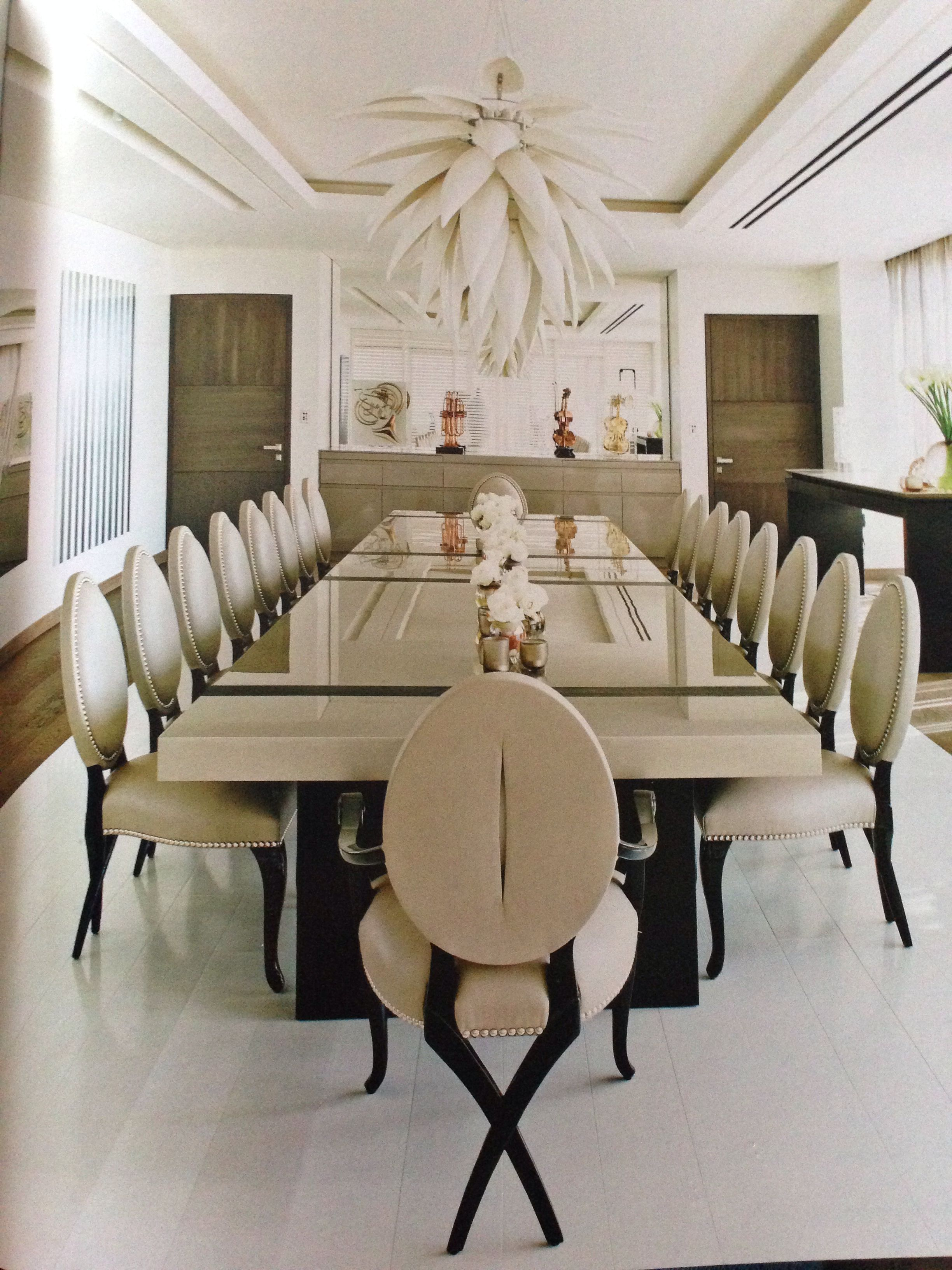 Kelly Hoppen dining room project This is