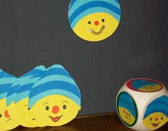 Dobbelspel voor peuters: welke emotie gooi jij? Moodboard Uk en Puk te vinden op de site: www.pukenko.nl
