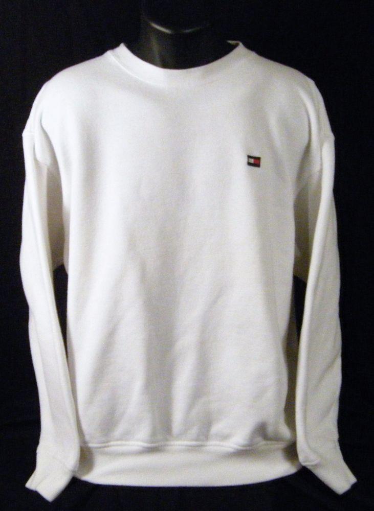 61b7b73eff142f Tommy Hilfiger Large White Sweatshirt Small Box Flag Logo  TommyHilfiger   Sweatshirt