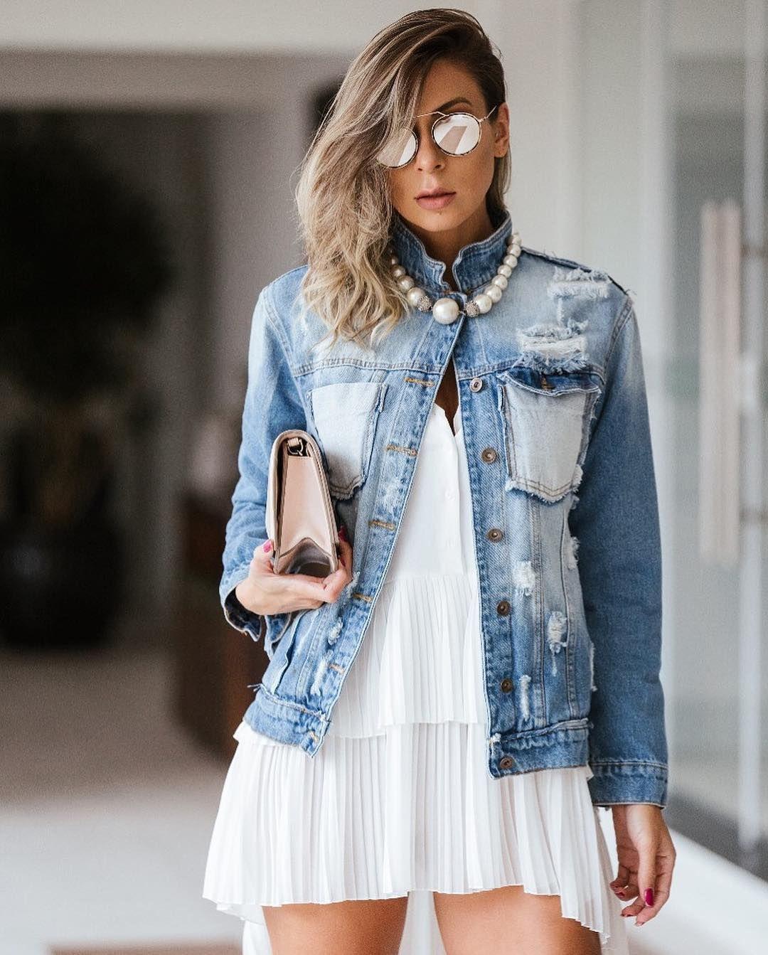 102de3fc8 Morning 💗 Princesas da Vida Real 👑 #jeans #jaqueta #jaquetajeans #degrant