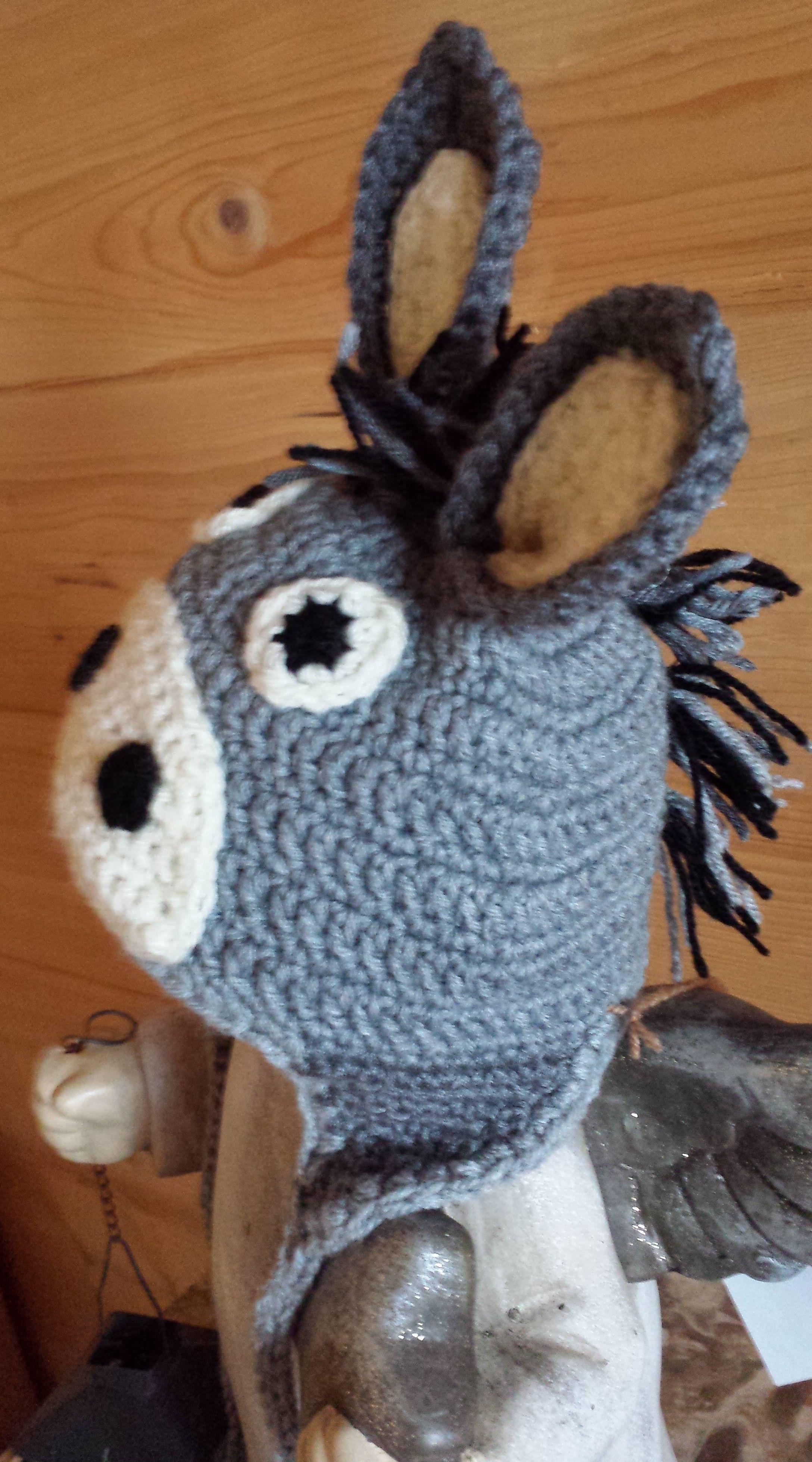 Esel Mütze, häkeln, Eigenkreation Uhuu! | Häkeln Mützen | Pinterest