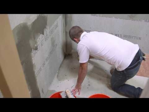 How To Install Hardiebacker Cement Board Youtube Diy Pinterest Cement Shower Pan Liner