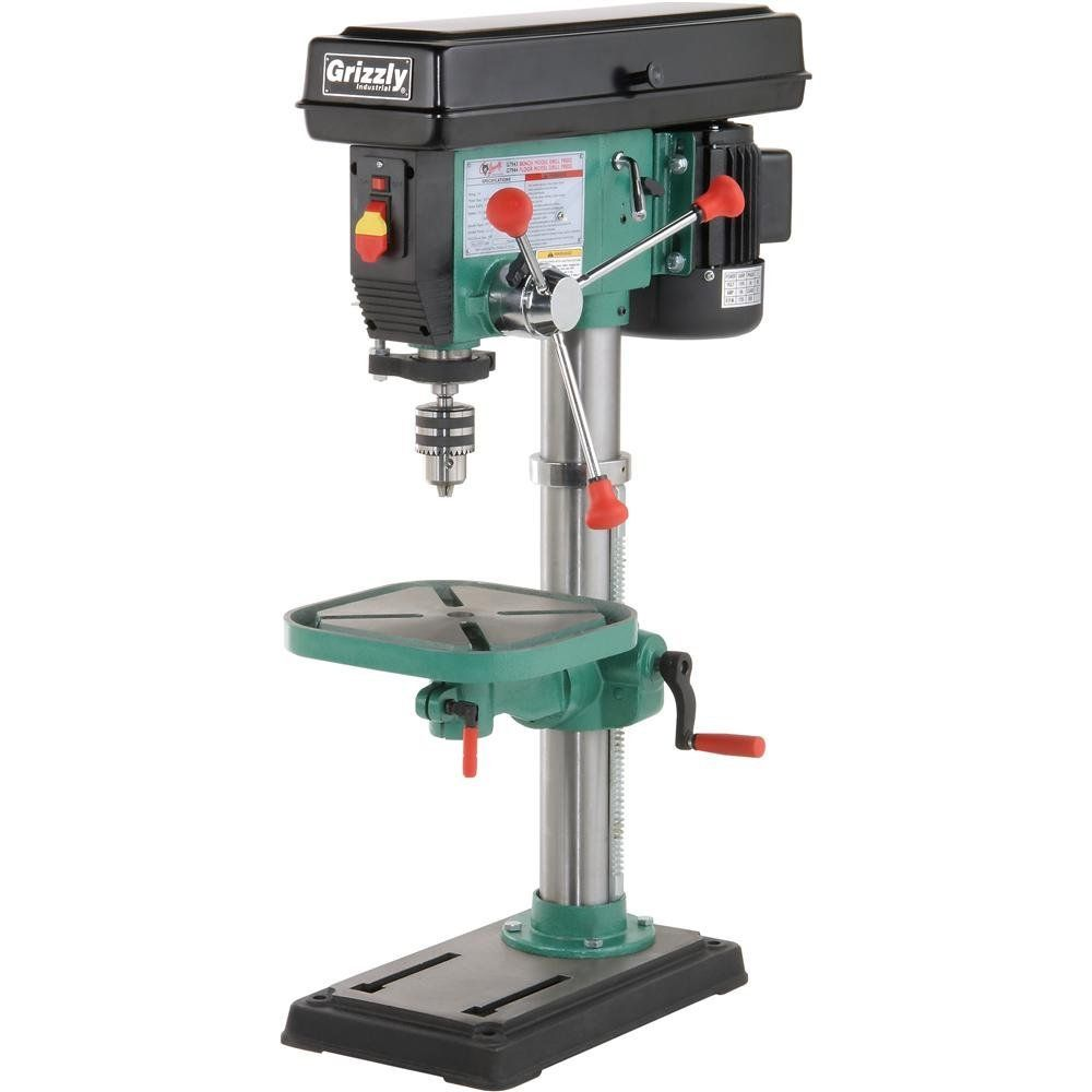 Grizzly G7943 12 Speed Heavy Duty Bench Top Drill Press Drill Press Grizzly Drill Press Drill
