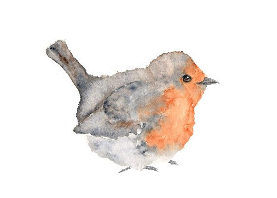 Bird Art Animal Painting Nature Painting Watercolor Painting