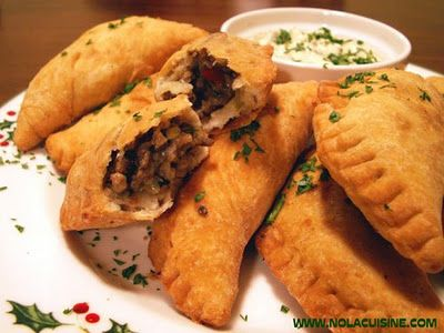 Natchitoches Meat Pies.rnInstead of making your own dough, buy Pillsbury Ready-Made Pie Crusts. Roll it out a little more, and use a small plate to cut around, making a circle. Put filling in the middle, and fold the circle in half. Press around the edges to seal.