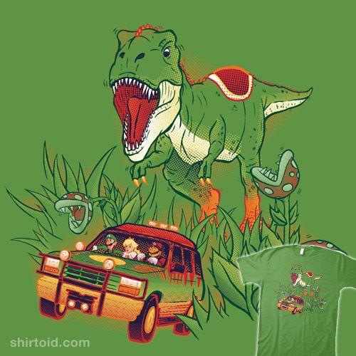 Jurassic Mario Jurassic Park Dinosaur Funny Mario