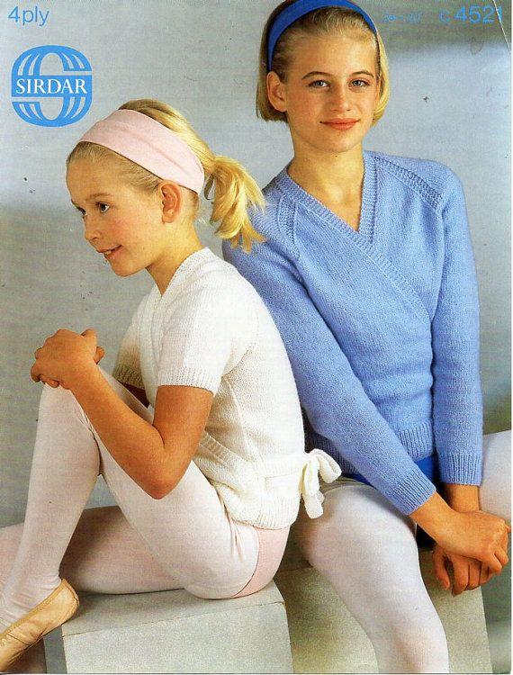 c8203 girls 4ply ballet cardigans knitting pattern pdf