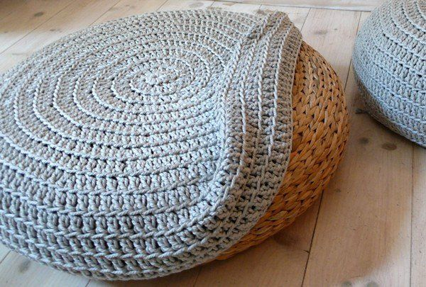 Pouf Ottoman Ikea Diy Ikea Alseda Stool  Knitted Cover  Caden Room  Pinterest