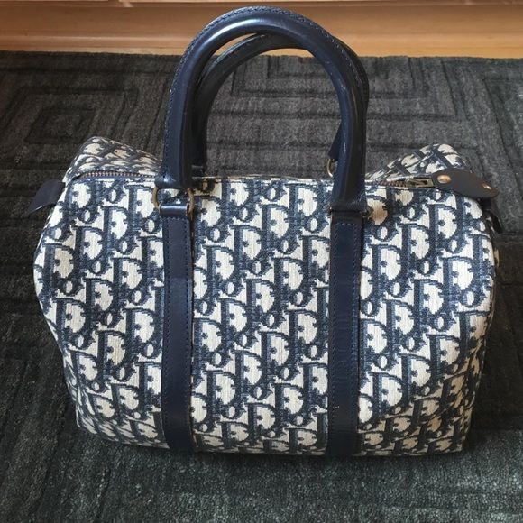 d49f8cbc08a5 Christian Dior satchel speedy Navy gray Dior satchel. Same exact size as a  LV speedy 30. Found this at an estate sale