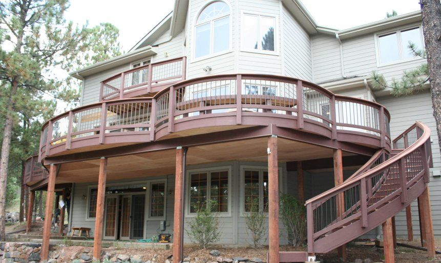 Best 2Nd Floor Decks With Stairs Composite Curved Deck And 400 x 300