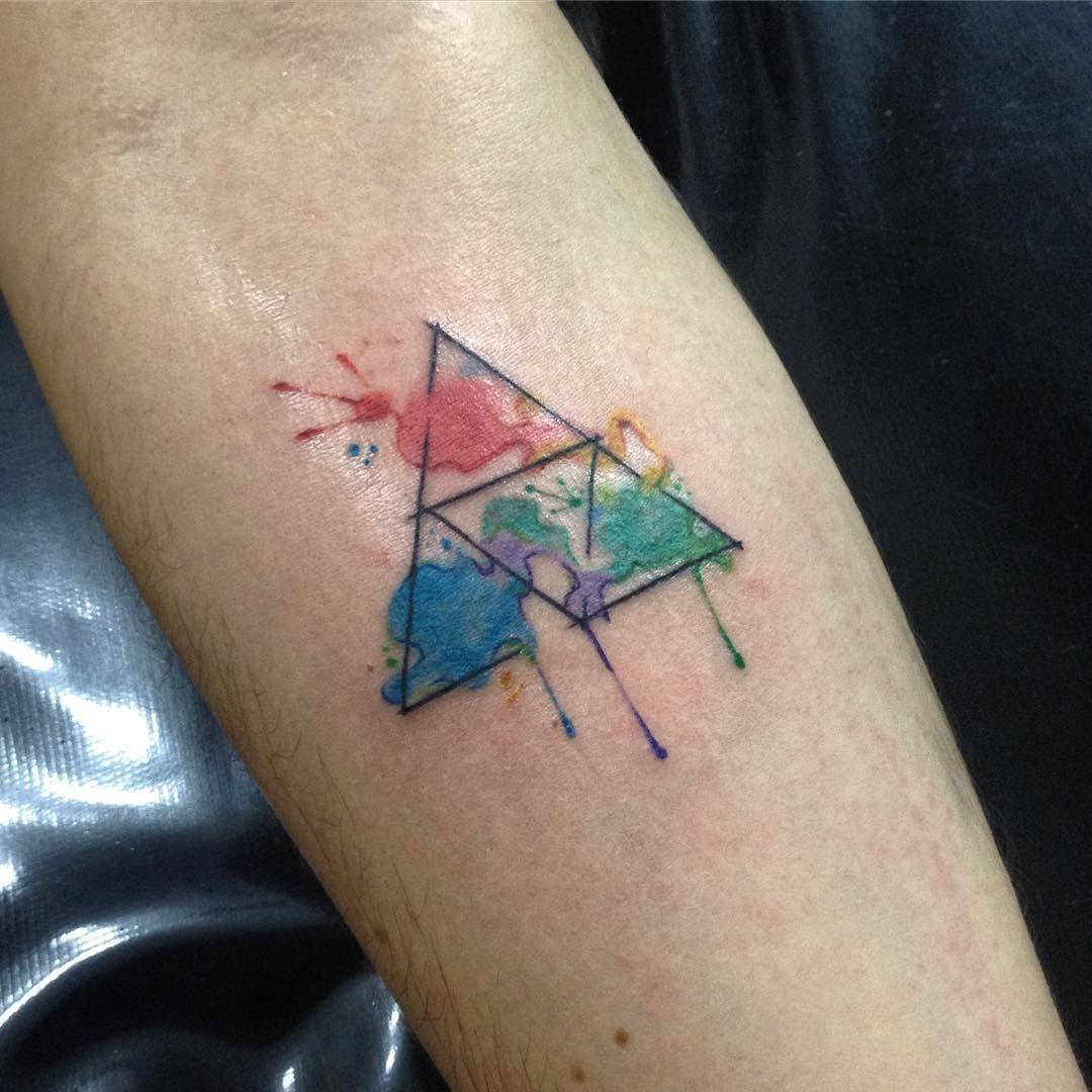 Triforce Tattoo_ Minimalist tattoo meaning, Tattoos