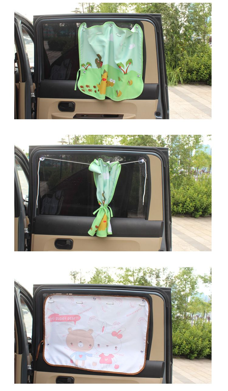 Car window coverings  rear window shade for baby  dinosaur car window uv curtains  baby