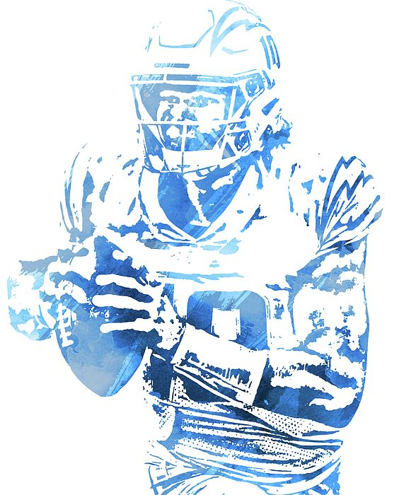 Justin Herbert Los Angeles Chargers Watercolor Strokes Pixel Art 102 By Joe Hamilton In 2020 Pixel Art Art Artwork