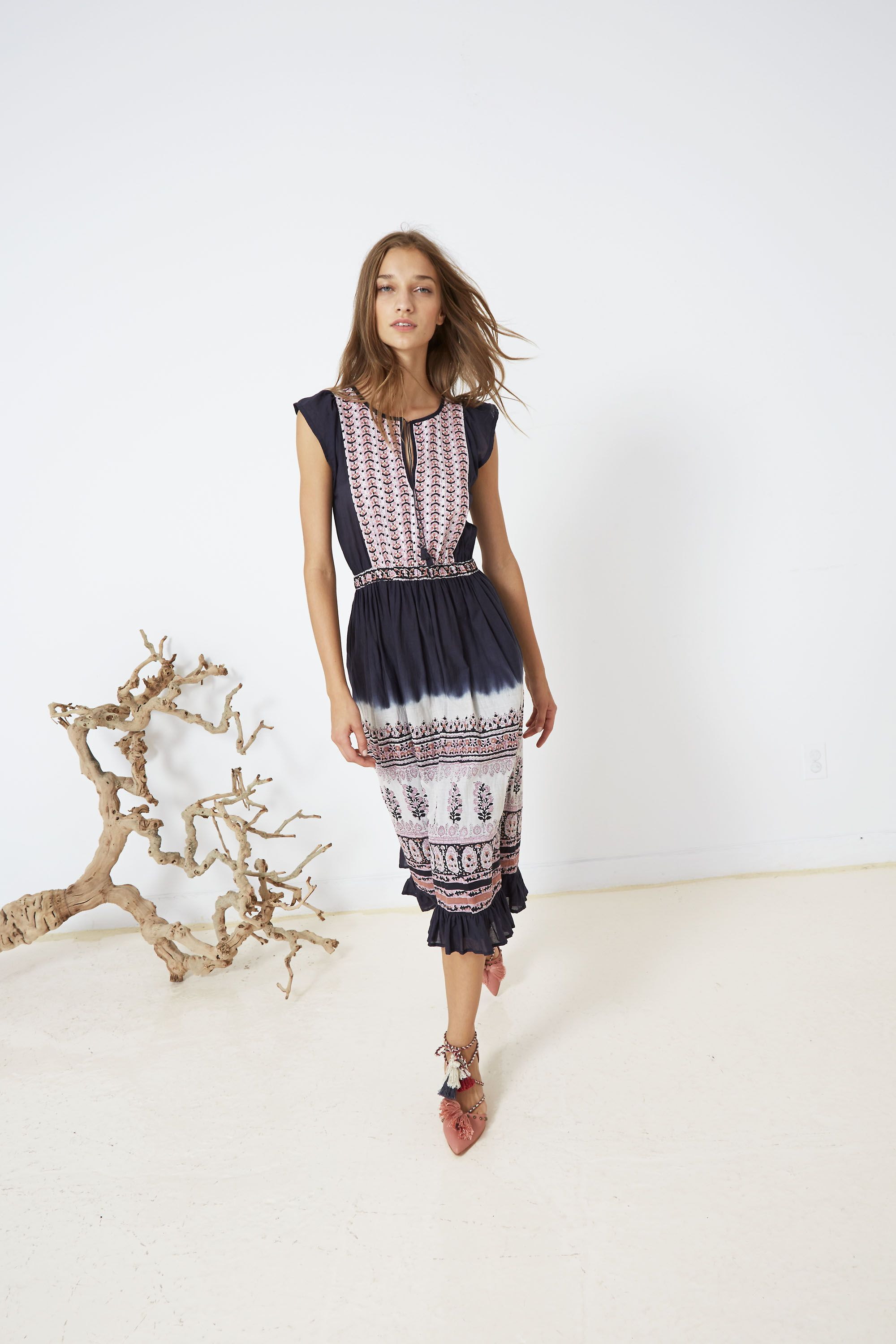18763a7a96c Ulla Johnson Spring 2016 Collection - Loretta Dress with Valentina Heel