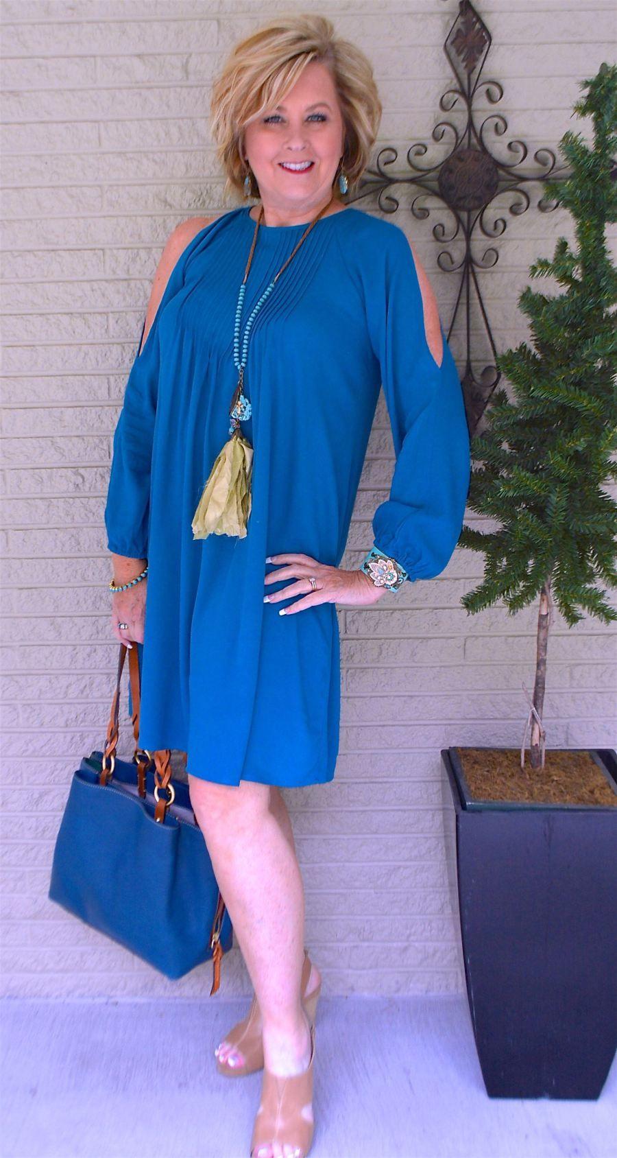 50 IS NOT OLD | A COLD SHOULDER DRESS