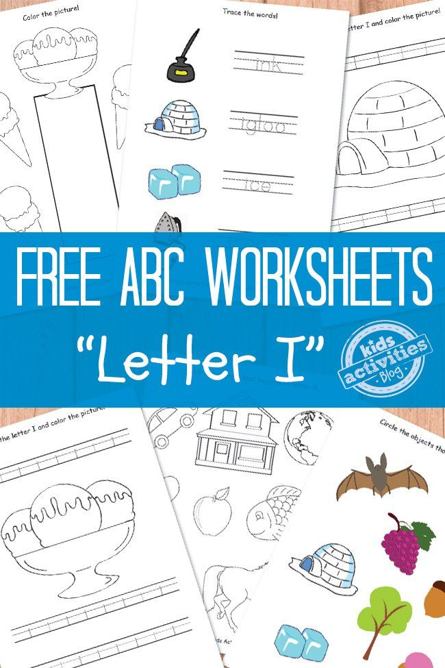 Letter I Worksheets Free Kids Printable Letter I Crafts